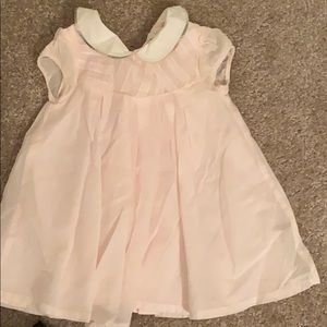 Burberry Kids pink dress with buttons in back